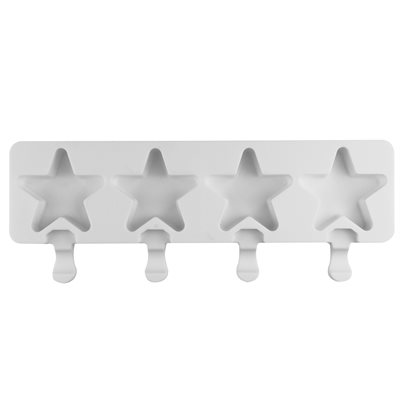 """Silicone Mold for Cakesicles, """"Star"""" - 4 Cavity"""