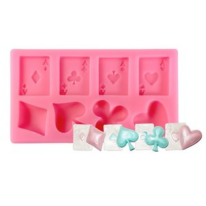 Suits (Spades, Hearts, Diamonds, Clover) Silicone Mold