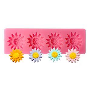 Sun Flower Silicone Mold 4 cavity