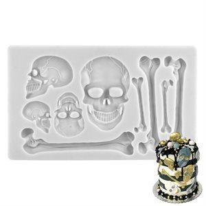 Large Skulls & Bones Silicone Mold