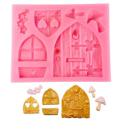 Medieval Doors and Windows Silicone Mold-5 Cavity