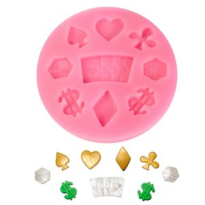 Dice,Playing Cards Silicone Mold-9 Cavity