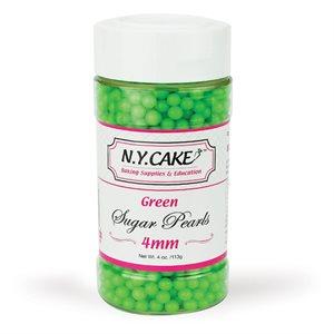 Green Sugar Pearls 4 mm