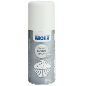 Silver Food Color Spray 100 ml by PME