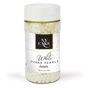White Sugar Pearls 4mm