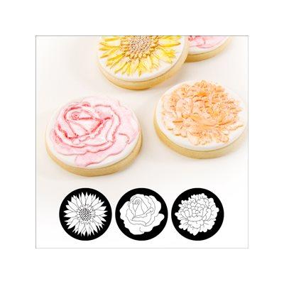 Floral Cupcake  /  Cookie Stencils