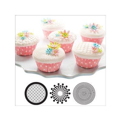 Geometric Cupcake  /  Cookie Stencils