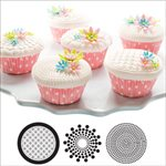 Geometric Cupcake  /  Cookie Stencils