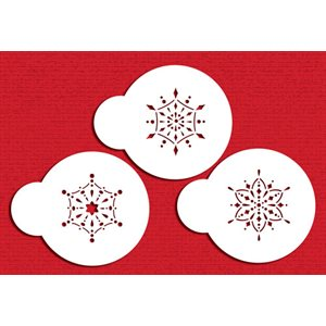 Mini Jeweled Snowflakes Stencil