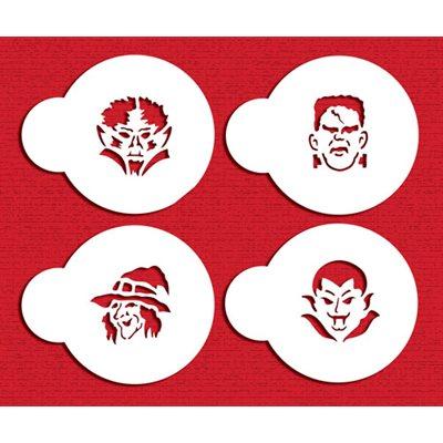 Mini Monster Faces Stencil Set