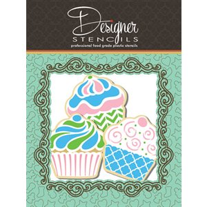 Cupcake Stencil & Cookie Cutter Set