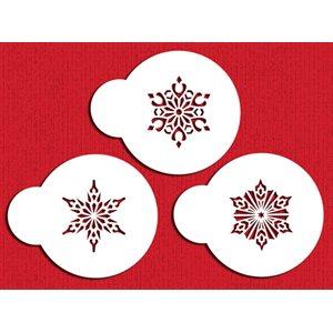 Mini Crystal Snowflakes # 2 Cupcake Stencil