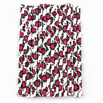 Pink Leopard Cake Pop Sticks Pack of 24