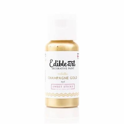 Metallic Champagne Gold Edible Art Paint By Sweet Sticks