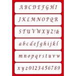 Alphabet Cake Stencil Set