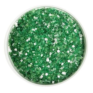 Dark Green Glittery Sugar 3 Ounces