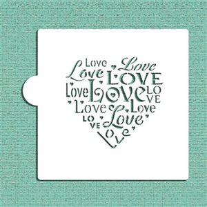 Love Saying Cookie Stencil By Designer Stencils