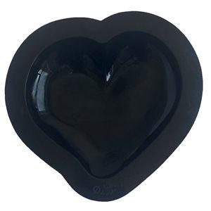 "Curved Heart Silicone Baking & Freezing Mold 6"" Diam."