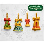 Christmas Bells Silicone Mold By Katy Sue