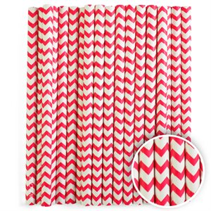 Red Chevron Cake Pop Sticks- 6 Inch -Pack of 25