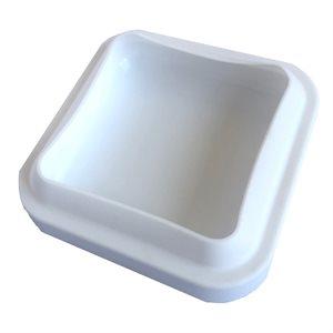 """Rounded Square Silicone Baking & Freezing Mold 6 1 / 2' x 6 1 / 2"""" x 1 3 / 4""""."""