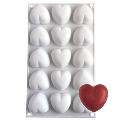 Small Pillow Heart Silicone Baking & Freezing Mold