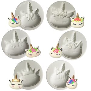 Unicorn Silicone Mold Set of 6