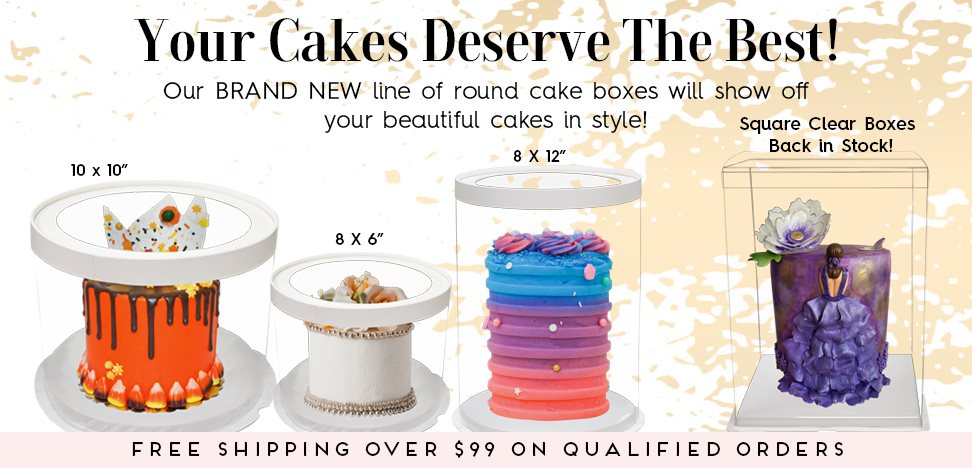 Round Cake Boxes Clear Window