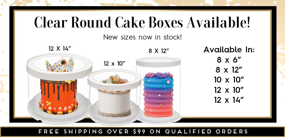 Clear Window Round Cake Boxes