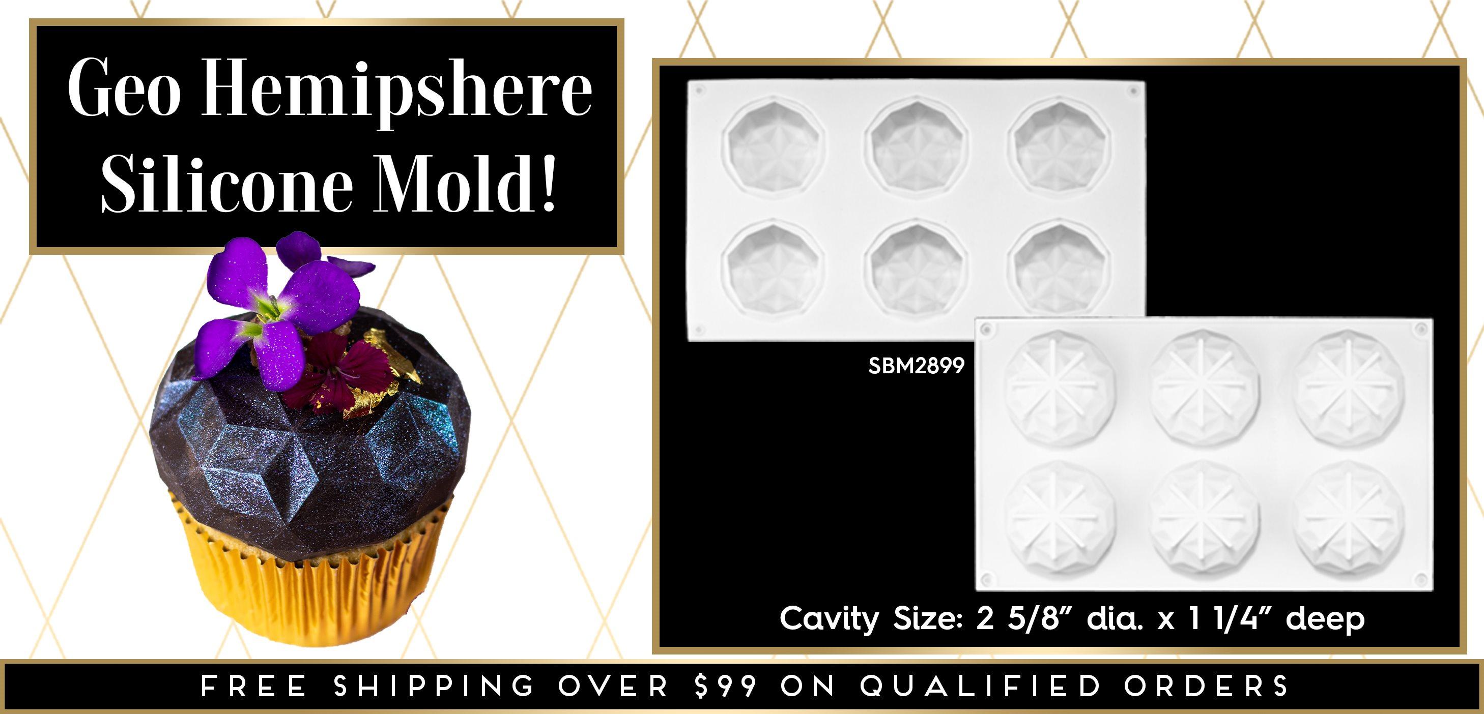 Geo Gem Geometric Hemisphere Half-Sphere Dome Silicone Mold