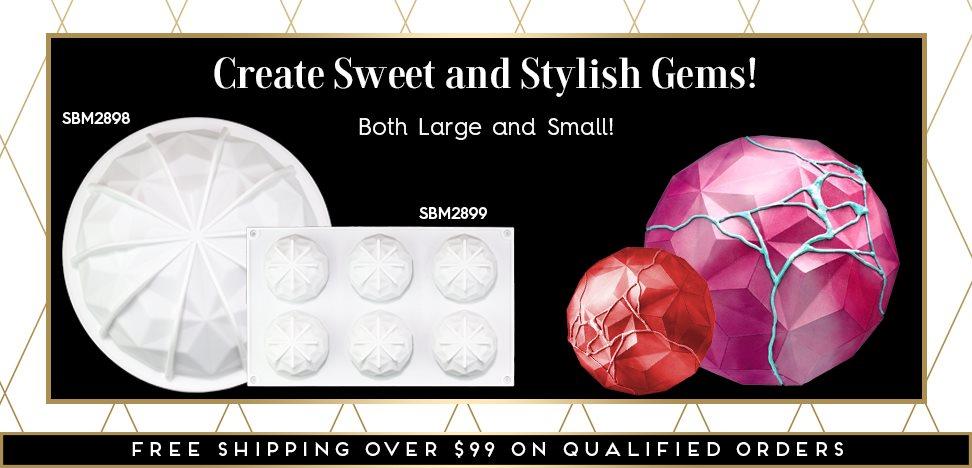 Gem Diamond Hemisphere Semi-Circle Silicone Baking Mold