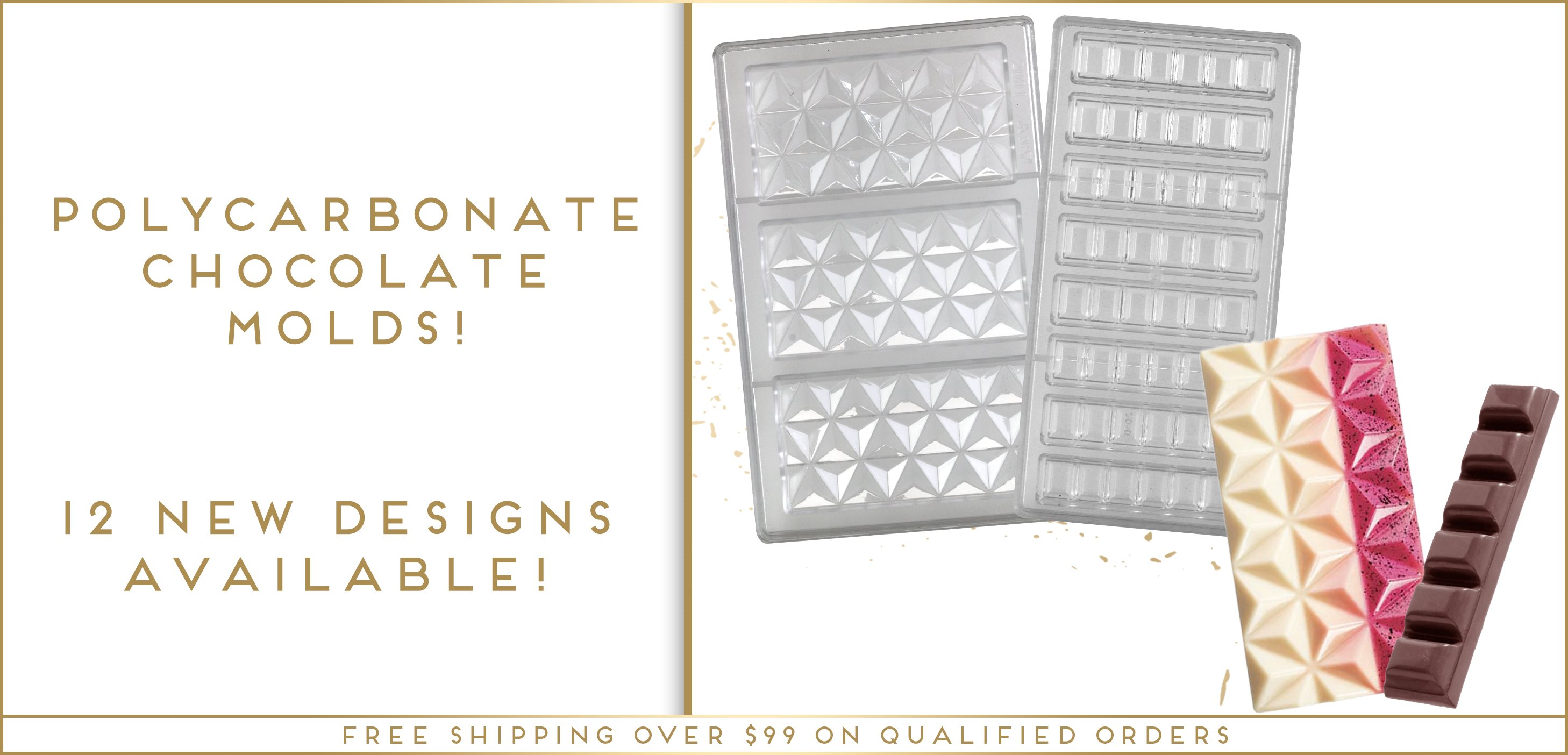 Polycarbonate Chocolate Molds