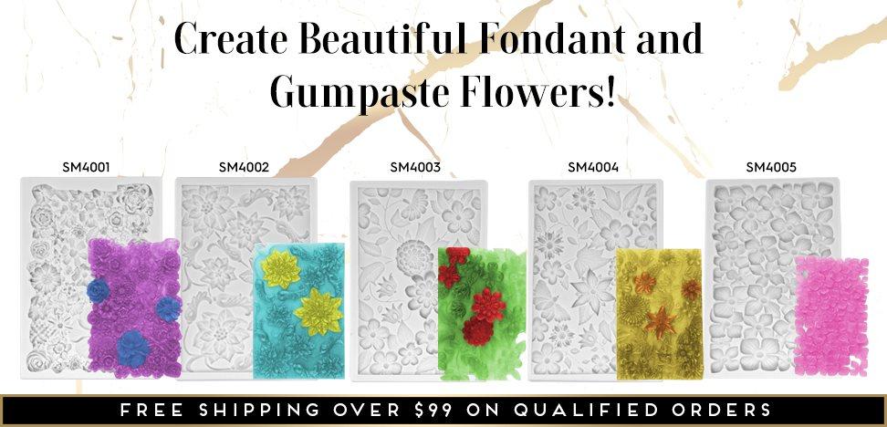 Flower Fondant and Gumpaste Molds