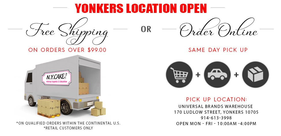 Free shipping on orders over $99 from nycake