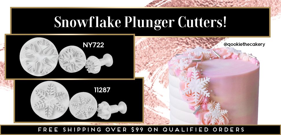 Snowflake Holiday Winter Christmas Fondant Plunger Cutter