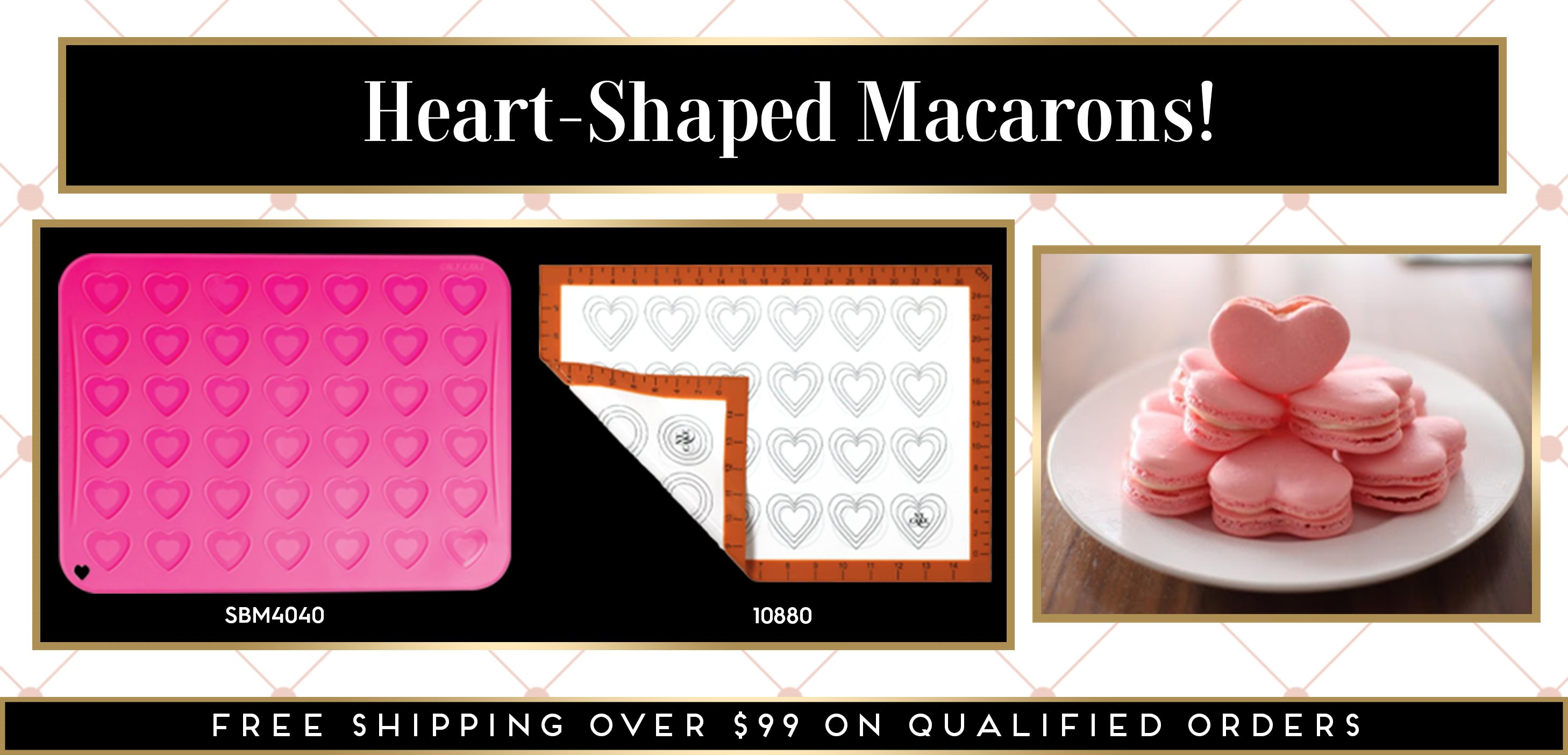 Heart Macaron Macaroon Silicone Mats Valentine